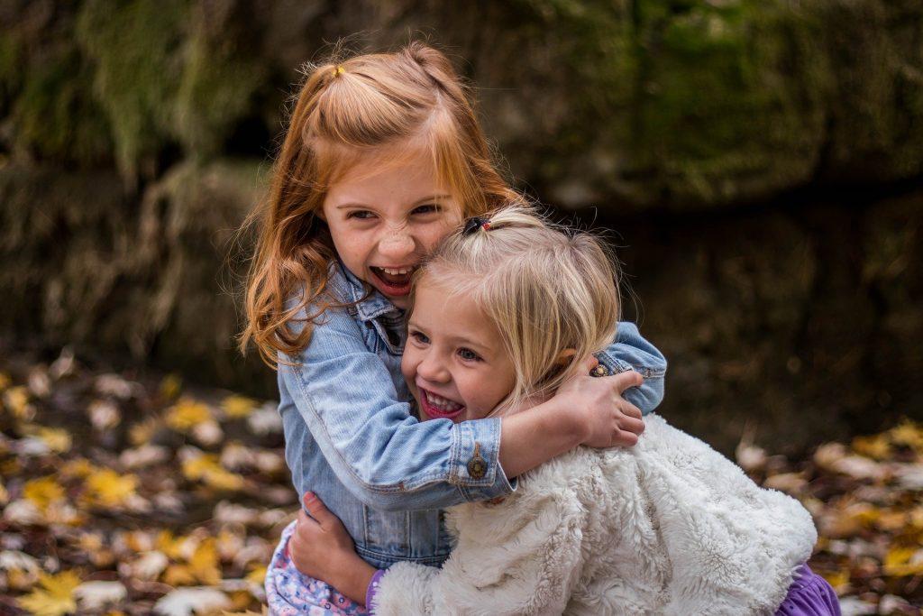 best friends hug